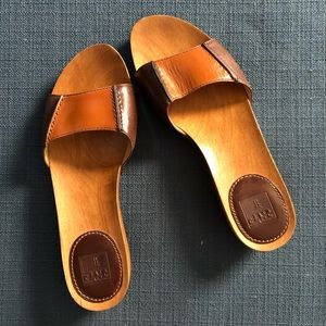 FRYE Ellie leather slide sandals